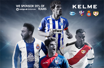 LALIGA所属チーム、全体の20%をKELMEがチームサポート